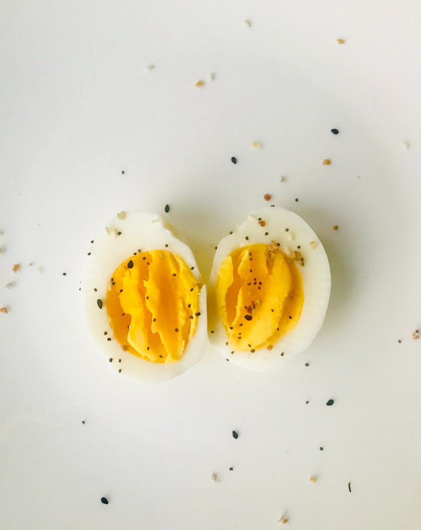 boiled egg with salt and pepper healthy snack